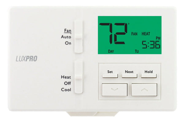LuxPro 7- or 5/2-day Programmable or Non-Programmable Thermostat - P711