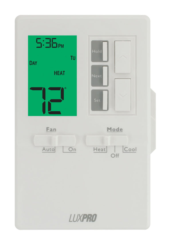 LuxPro 1 Heat 1 Cool Vertical Programmable Thermostat - P711V (case/10)