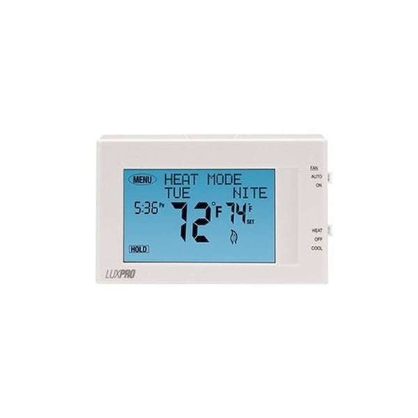 LuxPro P721UT2 Heat 1 Cool Touchscreen 7-Day Thermostat - Case of 10