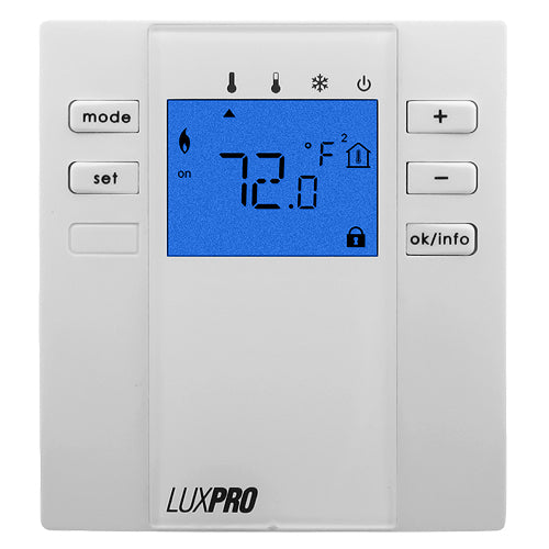 LuxPro Non-Programmable Floor Slab Thermostat (case/5) - P2000F