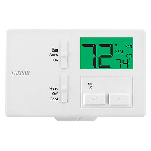 LuxPro 1 Heat 1 Cool Non-Programmable Thermostat (case/10) - P111