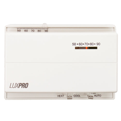 LuxPro Horizontal Heat/Cool Mechanical Thermostat (case/10) - PSM400SA