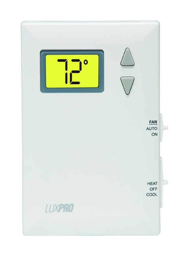 LuxPro Wireless Digital Non-Programmable Thermostat - PSD011B (case/10)