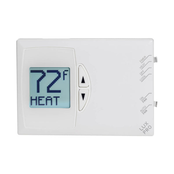 Luxpro PSDH121+ 2H/1C Non-Programmable Heat Pump Thermostats, Pack of 10