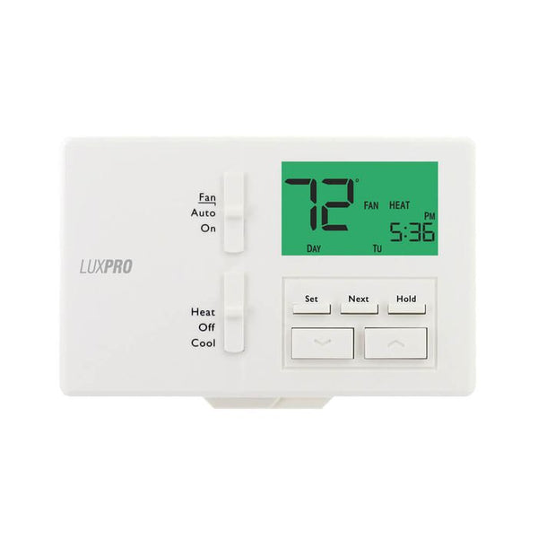 LuxPro P721 2H/1C, Programmable/Non-Programmable All-in-One Thermostats, Pack of 10