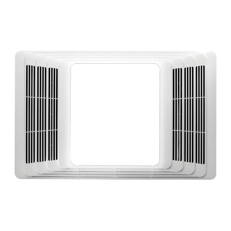 Broan NuTone 656 Heater/Light, White Plastic Grille, 100W Light