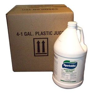 Nikro 861105 Sporicidin Disinfectant Solution ( 4-1 Gallon Bottles)