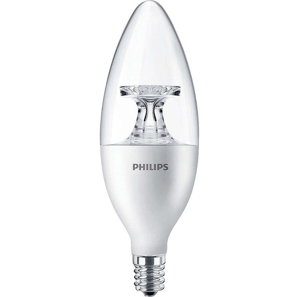 Philips 4.5w LED Candle Decorative 4.5B11/LED/827/E12/CL/DIM - 461871