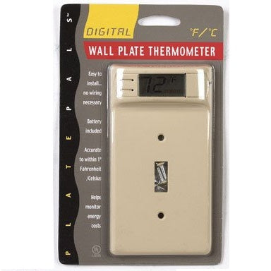 Plate Pals Digital Wall Plate Thermometer Ivory - 12200