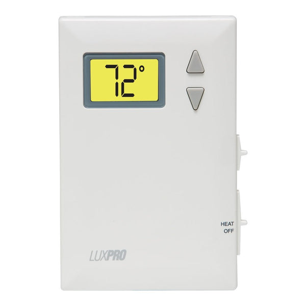 LuxPro Digital Heat Only Thermostat With Fan Control - PSD010BF