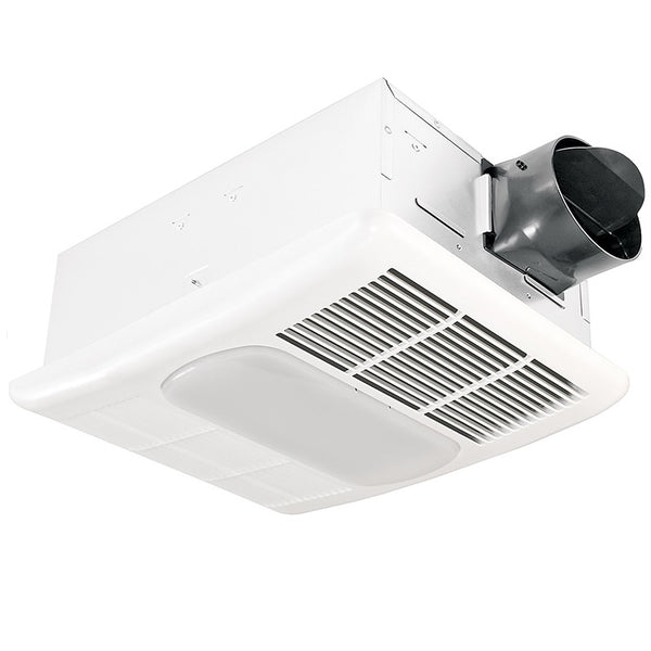 Delta Breez RAD80L Radiance 80 CFM Bathroom Exhaust Fan with Light and Heater