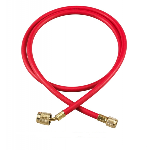 "Yellow Jacket 22660 1/4"" Plus II Charging Hose, 60"", SealR Fit.,Red"