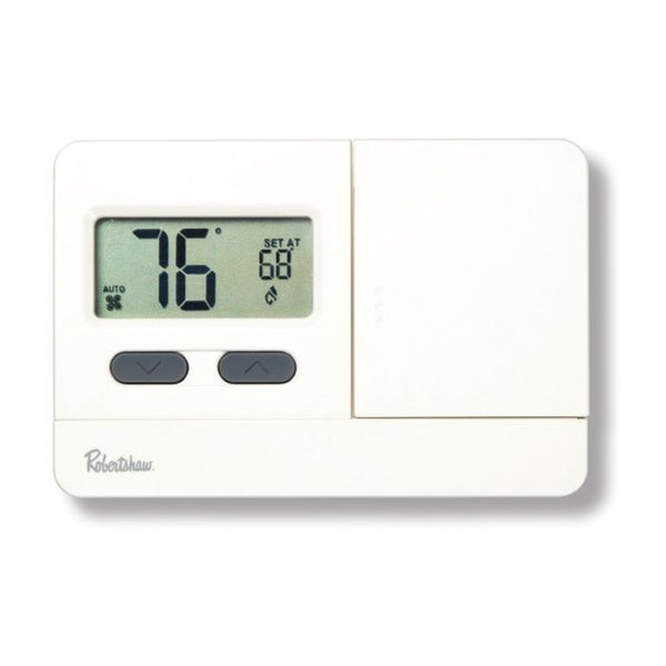 Robertshaw RS2110 Digital Non-Programmable Thermostat, 1 Heat / 1 Cool, 45°F to 90°F