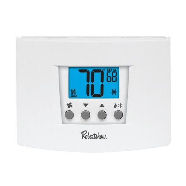 Robertshaw RS4110 Digital Non-Programmable Thermostat, 1 Heat / 1 Cool, 45°F to 90°F