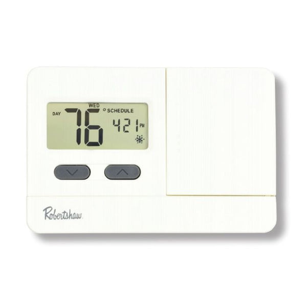 Robertshaw RS3210 Digital Non-Programmable Thermostat, Multi-Stage 2 Heat / 1 Cool, 45°F to 90°F