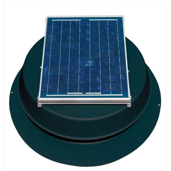Natural Light Solar Attic Fan 12 Watt Roof Mount Black, Up to 893 CFM - SAF12(BL)