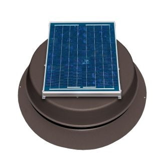 Natural Light Solar Attic Fan 12 Watt 893 CFM Roof Mount Bronze - SAF12BR