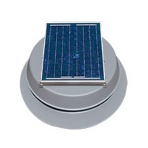 Natural Light Solar Attic Fan 12 Watt 893 CFM Roof Mount Grey - SAF12GR
