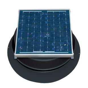 Natural Light Solar Attic Fan 24 Watt 1339 CFM Roof Mount Black - SAF24BL