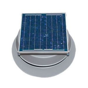 Natural Light Solar Attic Fan 24 Watt 1339 CFM Roof Mount Grey - SAF24GR