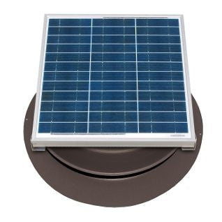 Natural Light Solar Attic Fan 36 Watt 1628 CFM Roof Mount Bronze - SAF36BR