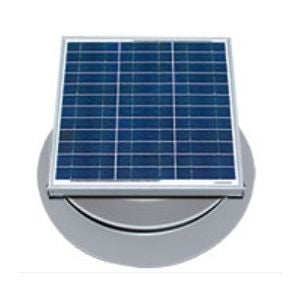 Natural Light Solar Attic Fan 36 Watt 1628 CFM Roof Mount Grey - SAF36GR