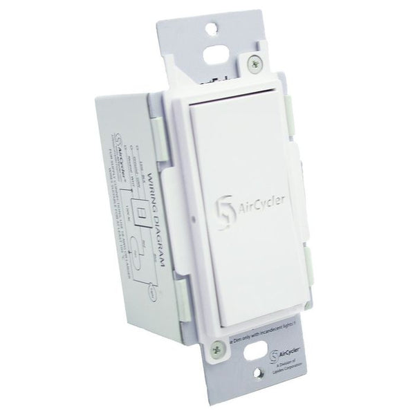 AirCycler SED-S SmartExhaust Rocker Switch, White
