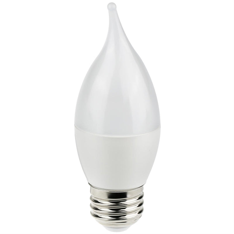 Sunlite LED Flame Tip Chandelier 7W, Warm White, 6/Case - 80477-SU