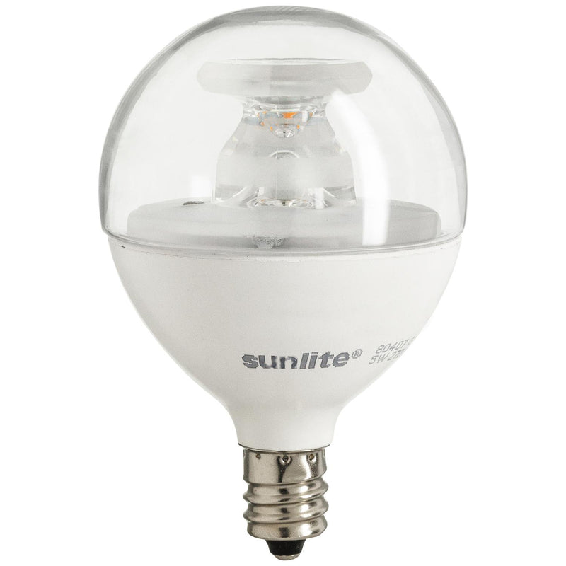 Sunlite LED G16.5 Globe 5W Light Bulb , Warm White, 6/Case - 80409-SU