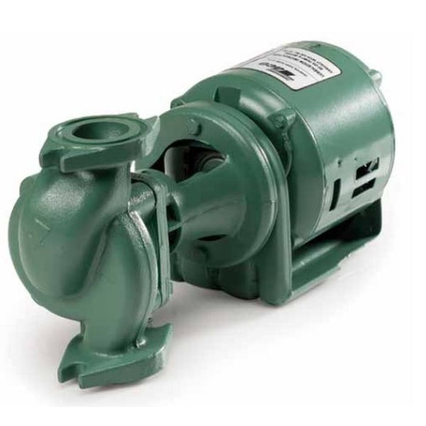 "TACO 120 In-Line Circulator Pump 1/6 HP Cast Iron, 2"" Flange"