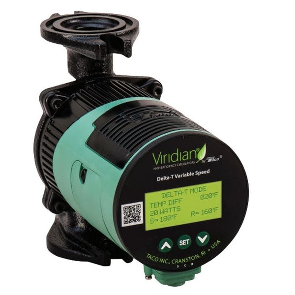 TACO Viridian VT2218 Delta-T Variable Speed, ECM High-Efficiency Circulator