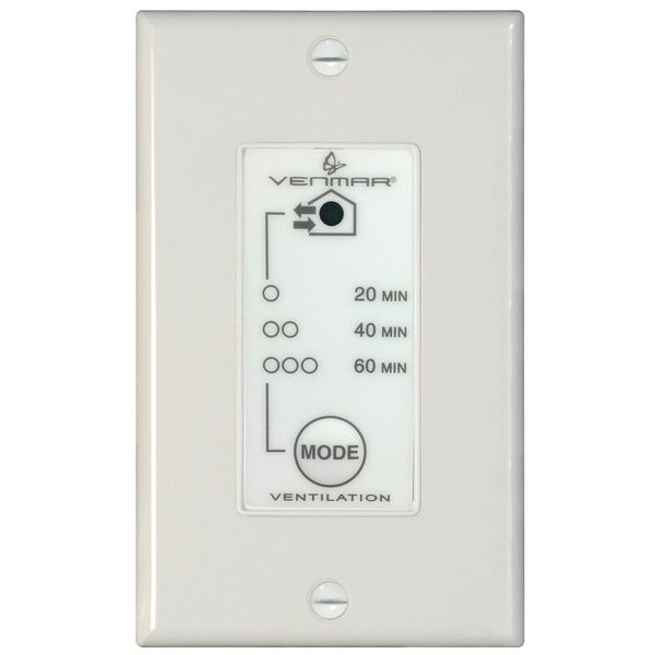 Venmar/Broan Wall Controls 20/40/60 Minute Lighted Push Button - 03364