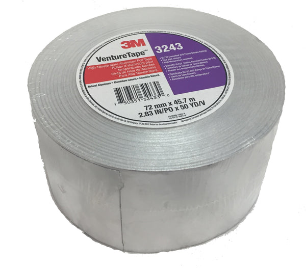 3M Venture Tape Silver Metalized Cloth Duct Tape 2.83in x 50yd - 3243