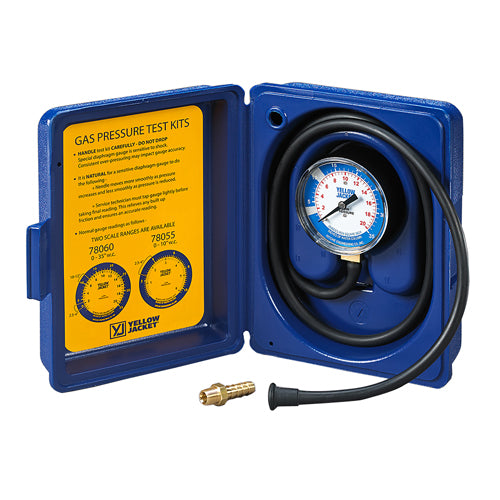 "Yellow Jacket 78060 Complete Gas Pressure Test Kit 0-35"" W.C."
