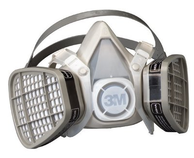 3M Half Facepiece Disposable Respirator Assembly 5101, Organic Vapor Respiratory Protection, Small