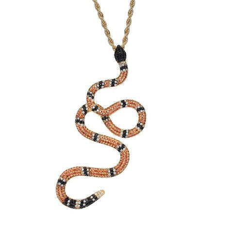 Collier Serpent orange