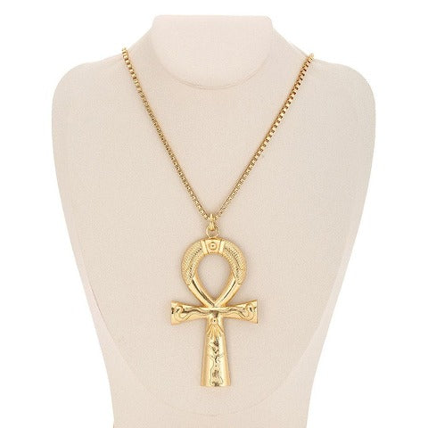 Collier Croix Egyptien Or Ankh
