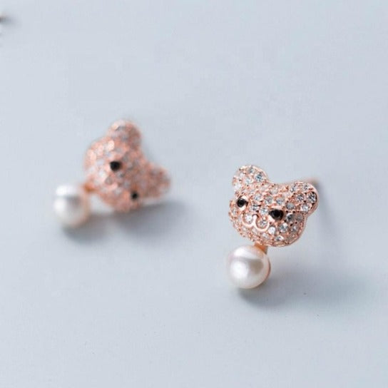 Boucle d'Oreille Ours