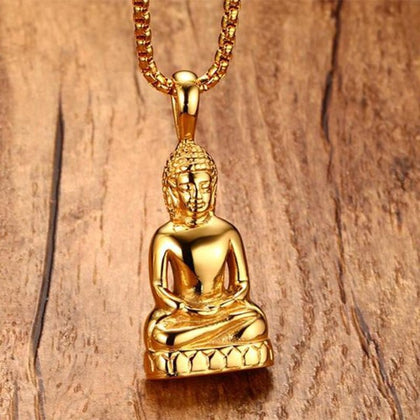 Collier Bouddha Or