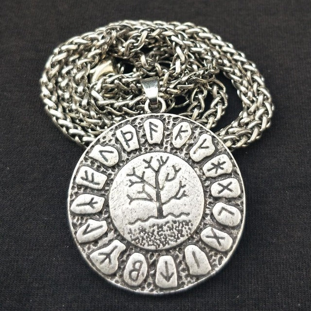 Collier Pendentif Yggdrasil  argent