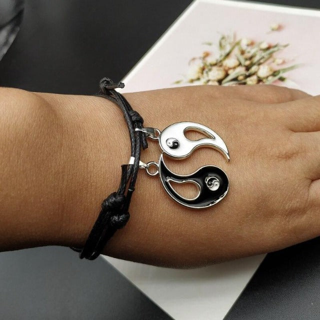 Bracelet Yin Yang de Couple Séparable