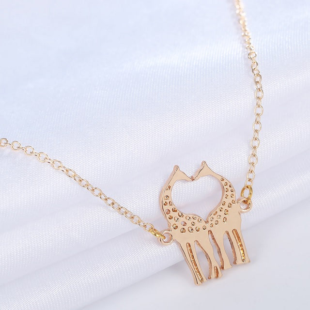 Collier Girafe or