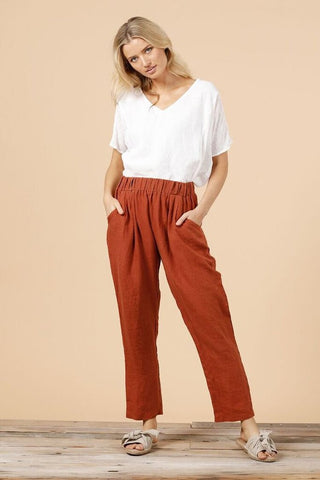 Badger Linen Pants- Copper
