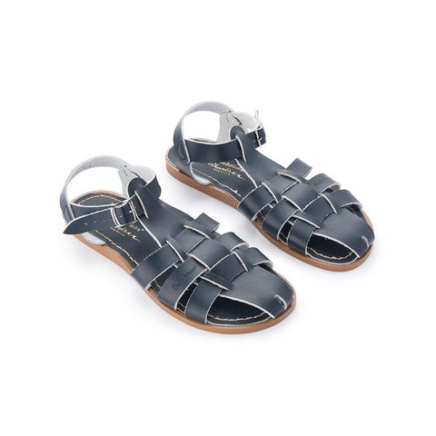 Saltwater Sandals Shark Womens- Navy