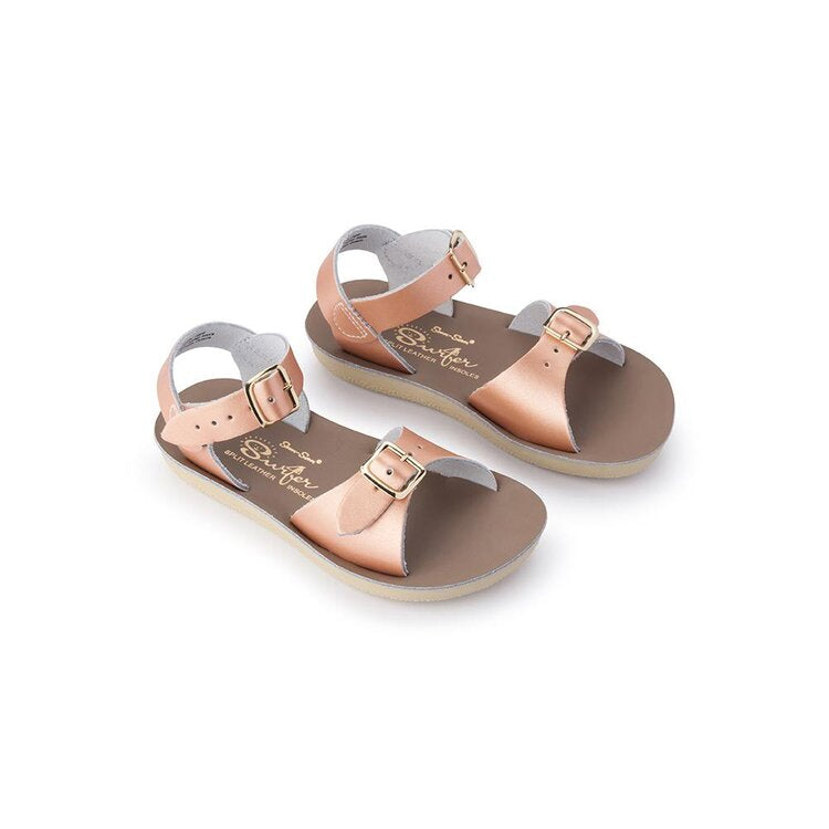 Saltwater Sandals Sun-San Surfer- Rose Gold