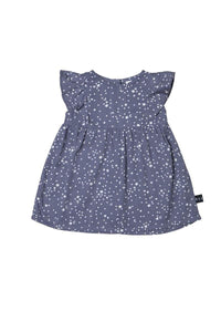 Star Tencel Dress Deep Blue