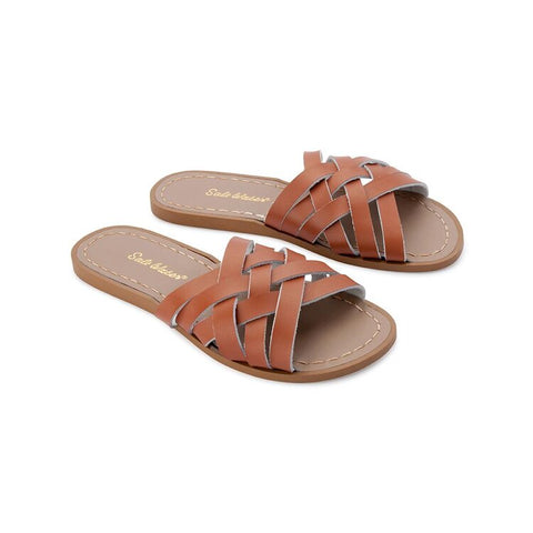 Saltwater Sandals Retro Slide Womens- Tan