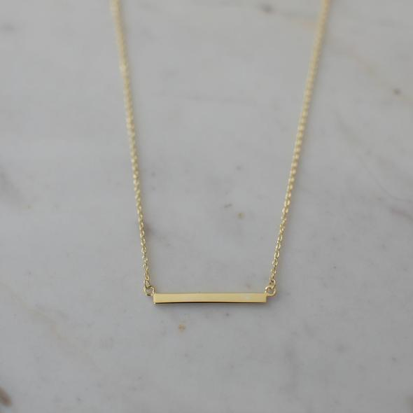 Mini Bar Necklace Gold
