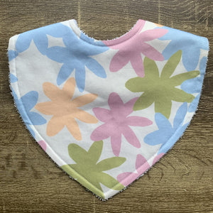 Tilda & Moo X Mosey Me Full Bloom Pastel Triangle Bib