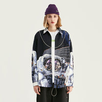 EWQ / men's and women's wear spring tops male 2020 personalized fashion astronaut print loose Long Sleeve Shirt oversize 9Y1523